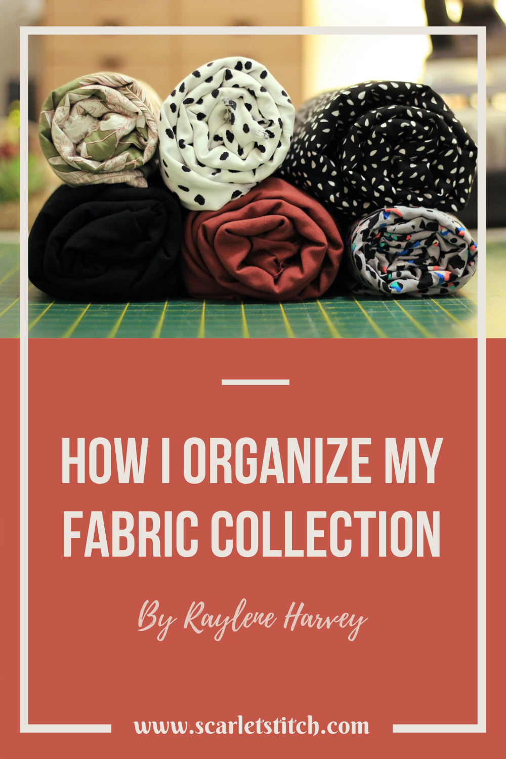 How I organize my fabric collection | Scarlet Stitch