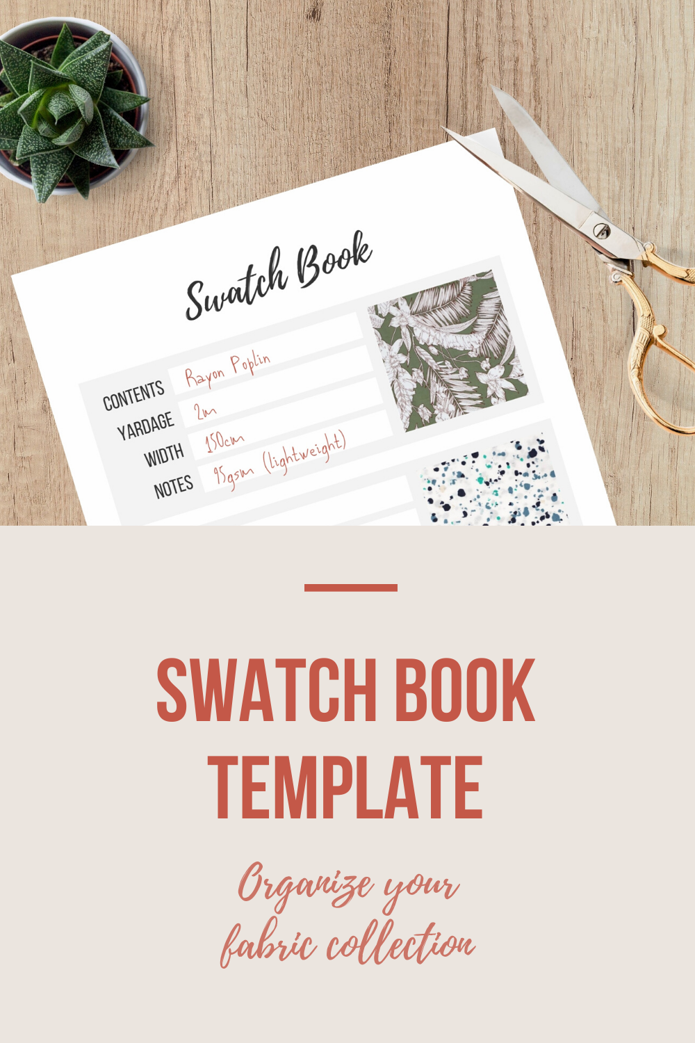 Swatch Book Template | Scarlet Stitch
