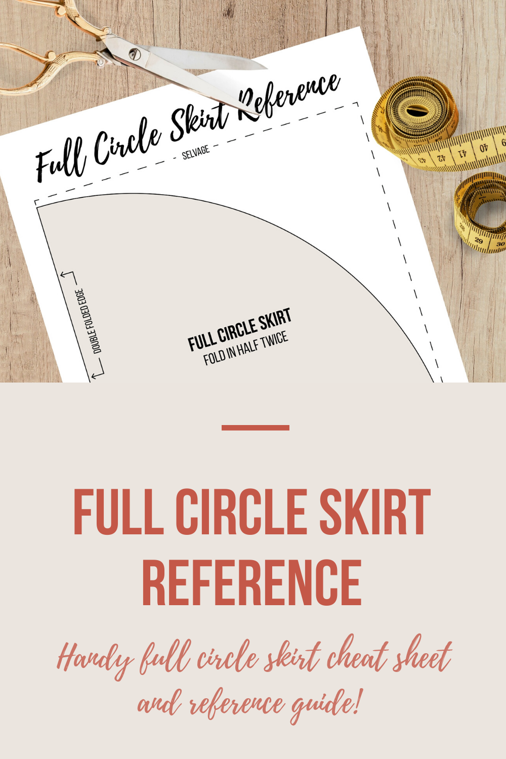Full Circle Skirt Reference | Scarlet Stitch