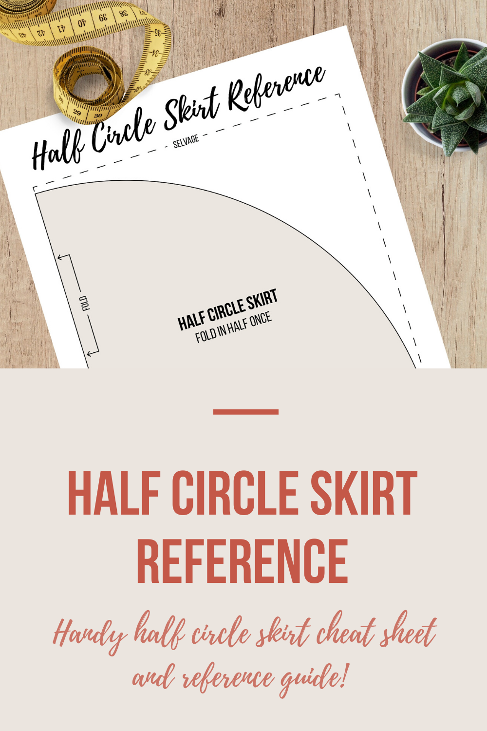 Half Circle Skirt Reference | Scarlet Stitch
